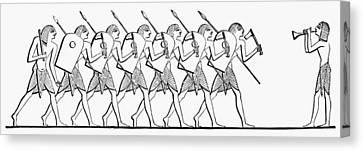 Ancient Egypt Lancers Canvas Print by Granger