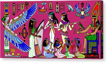 Canvas Print featuring the painting Ancient Egypt Splendor by Hartmut Jager