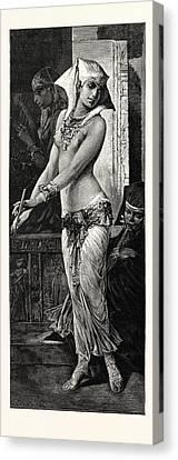 Ancient Egyptian Dancing Girl Canvas Print