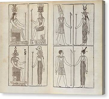 Ancient Egyptian Deities Canvas Print by Middle Temple Library