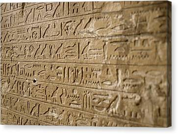 Ancient Egyptian Hieroglyphs Canvas Print