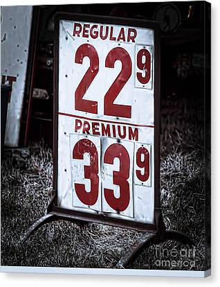 Ancient Gas Prices Canvas Print by Jim Lepard