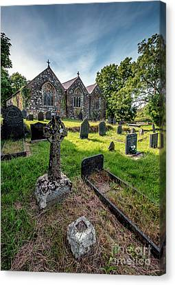 Cemetary Canvas Print - Ancient Graveyard   by Adrian Evans