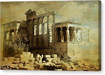 Ancient Greece Canvas Print by Diana Angstadt