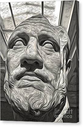 Ancient Greek Bust Canvas Print by Gregory Dyer