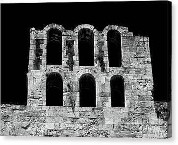 Ancient Greek Ruins Canvas Print by John Rizzuto
