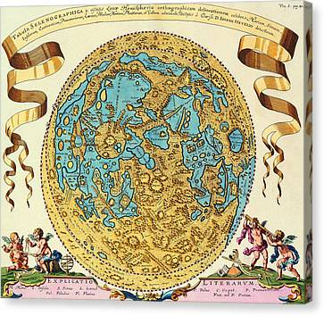 Ancient Map Of The World Canvas Print by Gianfranco Weiss