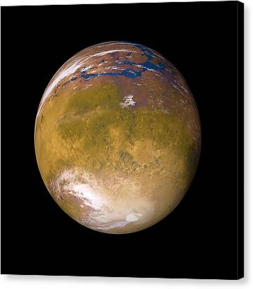 Ancient Mars Canvas Print by Detlev Van Ravenswaay