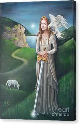 Canvas Print featuring the painting Ancient Queen by S G