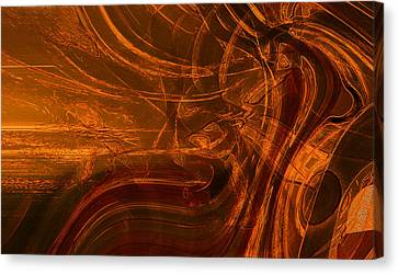 Canvas Print featuring the digital art Ancient by Richard Thomas