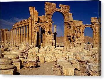 Ancient Roman City Of Palmyra, Syria Photo Canvas Print