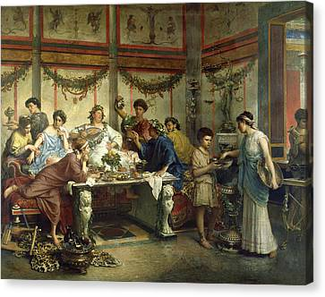 Ancient Roman Feast Canvas Print by Getty Research Institute