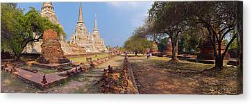 The Tiger Canvas Print - Ancient Ruins Of A Temple, Wat Phra Si by Panoramic Images