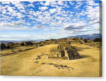 Ancient Ruins Of A Zapotec Temple Canvas Print by Mark E Tisdale