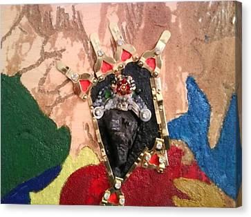 Ancient Sculpture Canvas Print by Trevor R Plummer