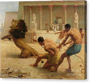 Ancient Sport Canvas Print by George Goodwin Kilburne