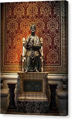Keys To Heaven Canvas Print - Ancient Statue Of Saint Peter, St by Reynold Mainse