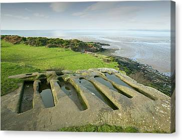 Ancient Stone Graves Canvas Print