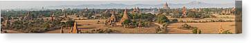 Ancient Temples In Bagan, Mandalay Canvas Print by Panoramic Images