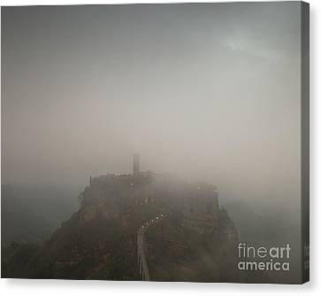 Ancient Town Of Civita Di Bagnoregio Lazio Italy Canvas Print by Matteo Colombo
