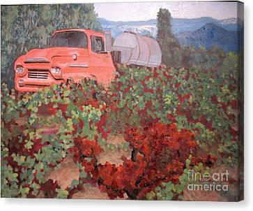 Ancient Truck Canvas Print by Donna Schaffer