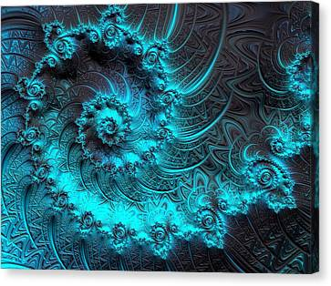 Turquoise And Rust Canvas Print - Ancient Verdigris -- Triptych 1 Of 3 by Susan Maxwell Schmidt