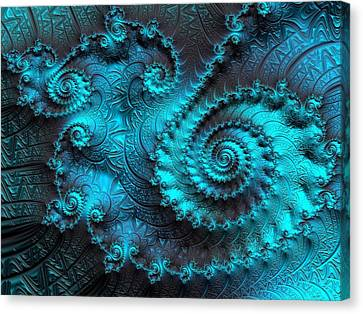 Ancient Verdigris -- Triptych 2 Of 3 Canvas Print by Susan Maxwell Schmidt