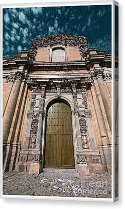 Ancient Wood Church Door With Iron Hinges Canvas Print by Stefano Senise
