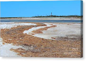 Canvas Print featuring the photograph Anclote Key Island Lighthouse by Jeanne Forsythe