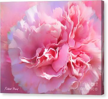 And A Pink Carnation Canvas Print