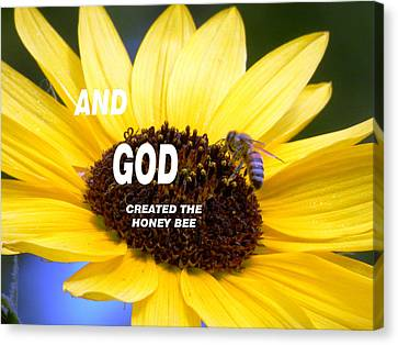 And God Created The Honey Bee Canvas Print by Belinda Lee