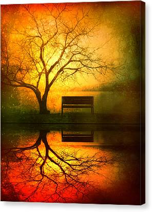 Trees Canvas Print - And I Will Wait For You Until The Sun Goes Down by Tara Turner
