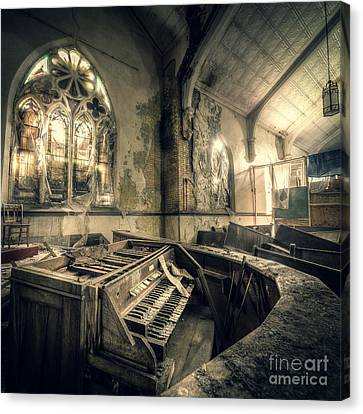 Urban Exploration Canvas Print - And In Their Absence The Music Ceased by CM Goodenbury