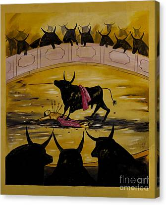 And The Crowd Goes Wild Canvas Print by Al Bourassa