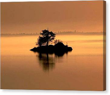 And The Fog Rolls In Canvas Print by Larry Trupp