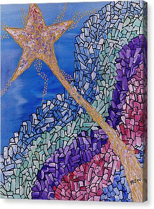 And The Star Said Canvas Print by Barbara St Jean
