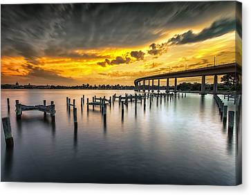 And The Water Caught Fire Canvas Print