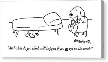 Ask Canvas Print - And What Do You Think Will Happen If You Do Get by Charles Barsotti
