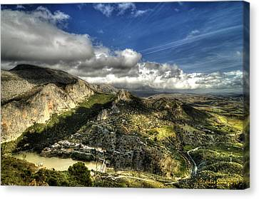 Canvas Print featuring the photograph Andalusia - Mountain View by Julis Simo