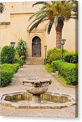 Andalusian Gardens In Rabat Canvas Print