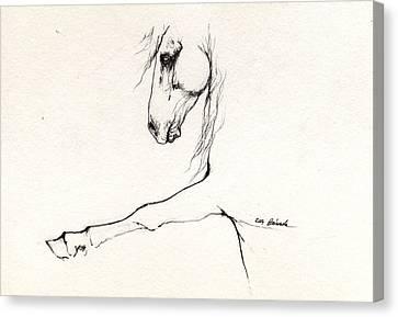 Andalusian Horse Portrait 2014 05 16 C Canvas Print