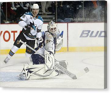 Canvas Print featuring the photograph Anders Lindback by Don Olea