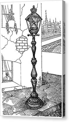 Andersen Old Street Lamp Canvas Print by Granger