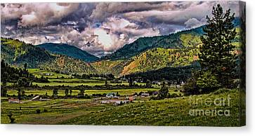Canvas Print featuring the photograph Anderson Creek by Sam Rosen