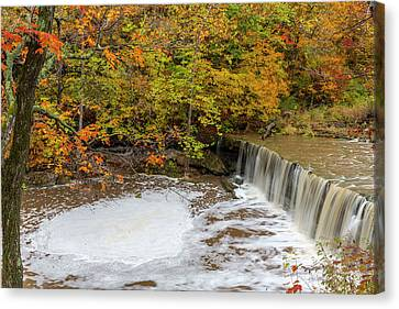 Anderson Falls On Fall Fork Of Clifty Canvas Print by Chuck Haney