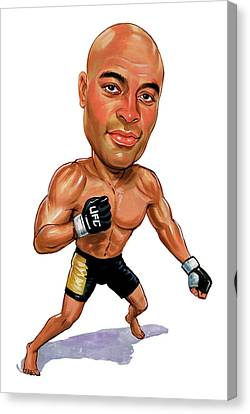Anderson Silva Canvas Print by Art