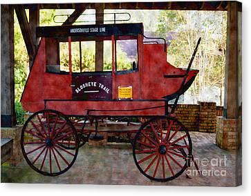 Andersonville Stage Line Slosheye Trail Canvas Print by Kim Pate