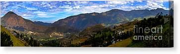 Andes Mountains Panorama Canvas Print