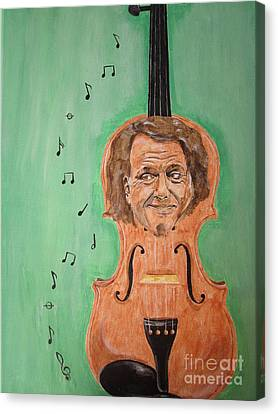Canvas Print featuring the painting Andre Rieu And His Violin by Jeepee Aero