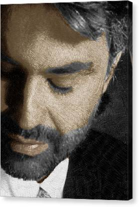 Andrea Bocelli And Vertical Canvas Print by Tony Rubino
